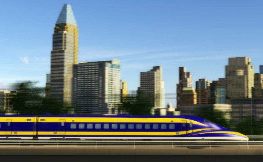 A conceptual photo of a high-speed rail project.