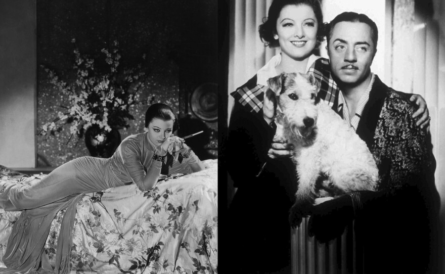 """Myrna Loy played Asian sirens early in her career like Fah Lo See in """"The Mask of Fu Manchu"""" (1932) before coming to represent the ideal wife Nora Charles in """"The Thin Man"""" film series, which started in 1934."""