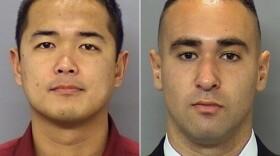 San Diego police officers Jonathan De Guzman, left, and Wade Irwin.