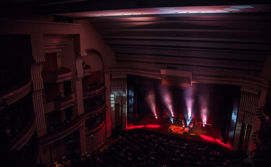 A view from the balcony at the 1500-seat concert hall at the California Center for the Arts, Escondido.