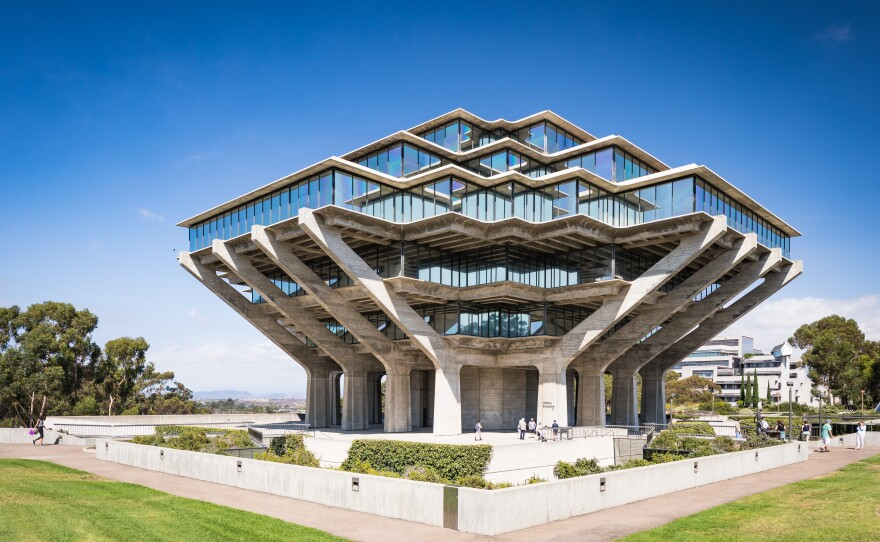 The Geisel Library is seen from the UC San Diego campus in this undated photo.