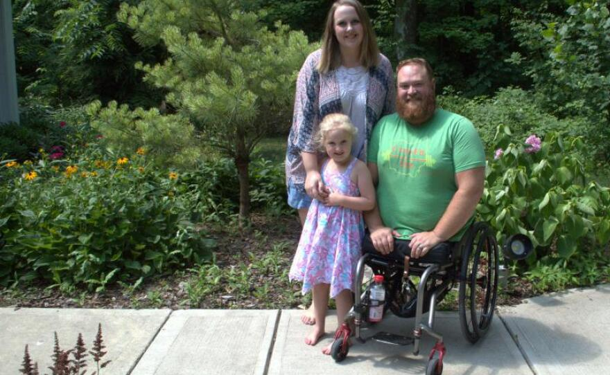 Army veteran Jason Gibson and his wife Kara are pictured in this undated photo.