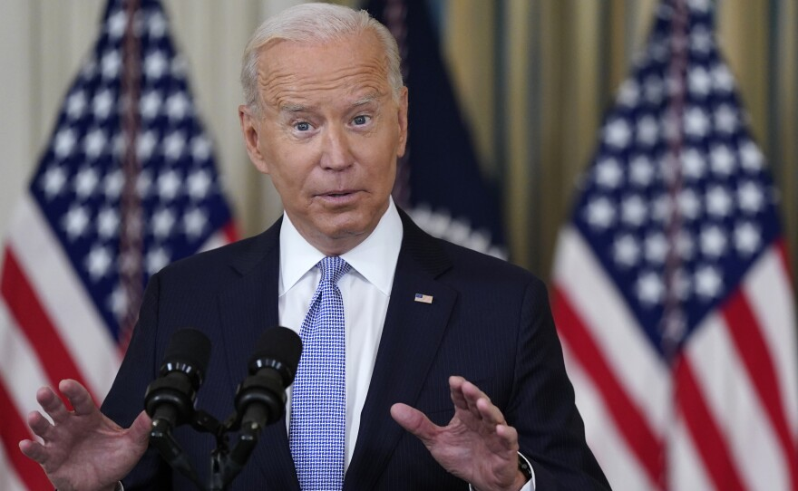President Joe Biden speaks about the COVID-19 response and vaccinations at the White House on Sept. 24.