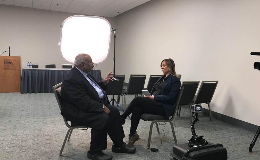 American Public Health Association Executive Director Dr. Georges Benjamin speaks with KPBS Reporter Tarryn Mento, Nov, 14, 2018.