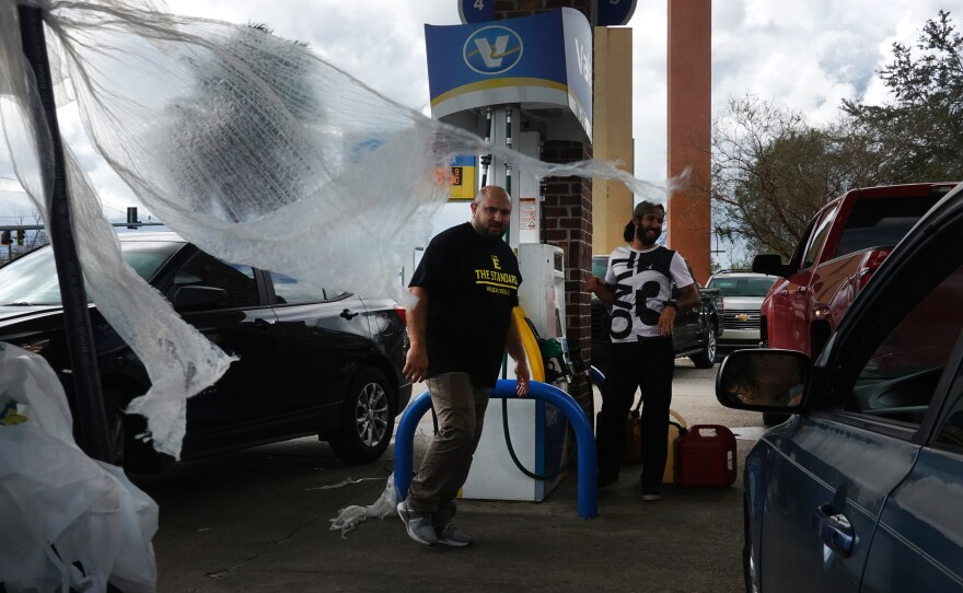 Customers in Laplace, La., learn that a station has ran out of gas after waiting in line for more than an hour on August 30. Hurricane Ida made landfall southwest of New Orleans on August 29, as a category 4 storm.