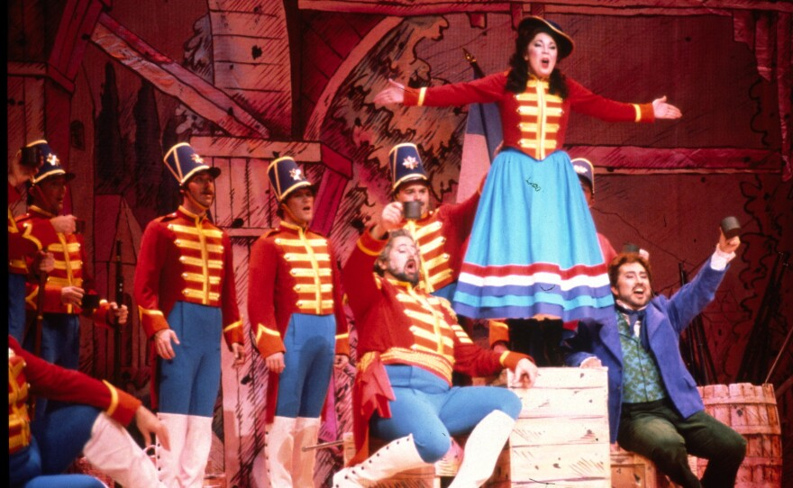 """The 1990 San Diego Opera production of """"The Daughter of the Regiment."""""""