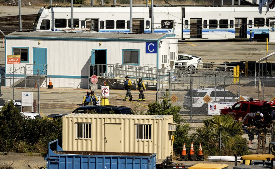 Emergency personnel responded to reports of a shooting at a Santa Clara Valley Transportation Authority facility on Wednesday. The gunman killed nine people and took his own life.