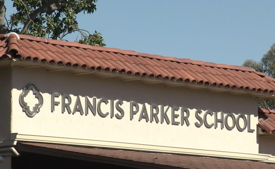 Francis Parker School in Linda Vista in this file photo from Aug. 20, 2020.