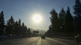 A strong morning sun rises over the Ventura Freeway State Route 134 in Burbank, Calif. on Friday, July 6, 2018.