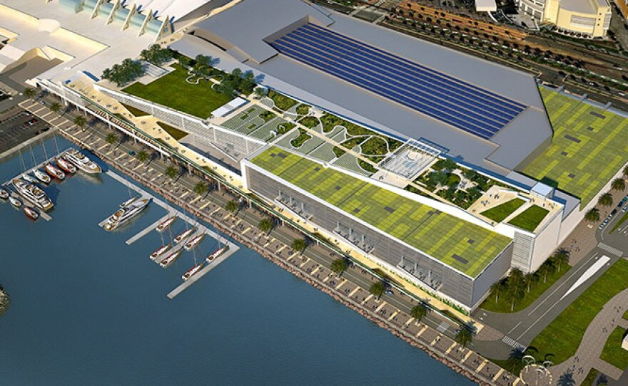 A rendering of the proposed Convention Center expansion.