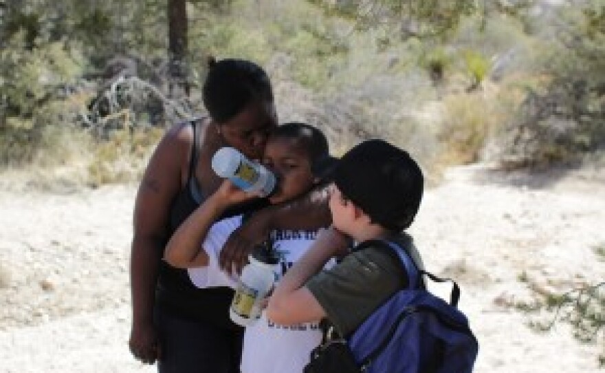 Spending time away from the city gave Lacy and her son, Jahvi, a chance to reconnect.
