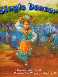 """Jingle Dancer"" by Cynthia Leitich Smith Book Cover Thumbnail"