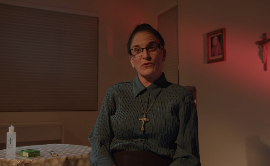 "Sam Ginn stars as the title character in Jonathan Hammond's ""Kathy."""