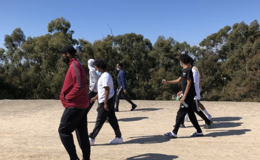 Young hikers with the group United Women of East Africa are looking to get young people active during the pandemic on Saturday, February 20th, 2021.