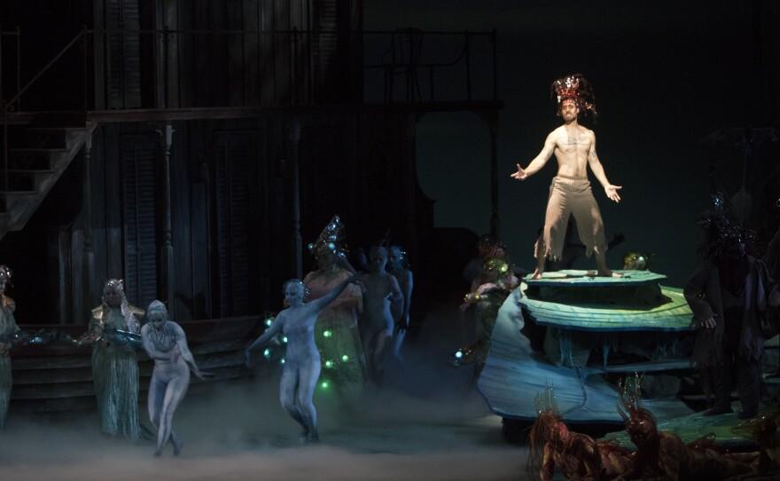 """Baritone Luis Alejandro Orozco is Riolobo in San Diego Opera's """"Florencia en el Amazonas."""""""