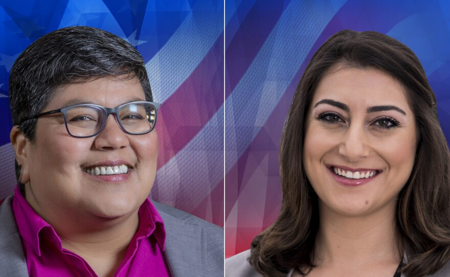 53rd Congressional Candidates Georgette Gómez (left) and Sara Jacobs (right) in this undated photo.