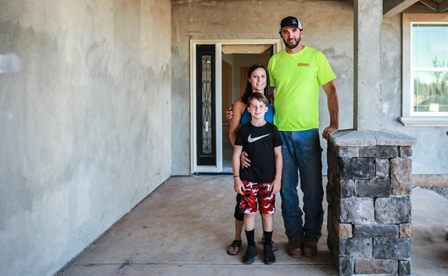 Crystal Hutchison, Luke Bellefeuille and son Trinton are featured in REBUILDING PARADISE On THIS OLD HOUSE.