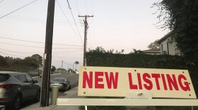 A sign for a new listing in the Golden Hill neighborhood of San Diego, Calif. Sept. 16, 2021.