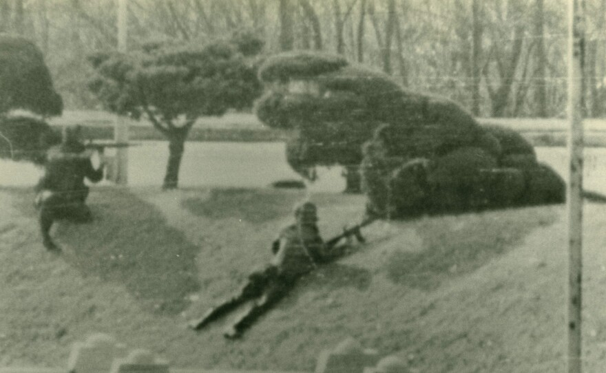 In 1984, an American Army unit engaged in this firefight as it shielded a Soviet defector who made a break across the Demilitarized Zone between North and South Korea. Thirty years after the battle, American soldier Mark Deville has finally received a Silver Star for bravery.