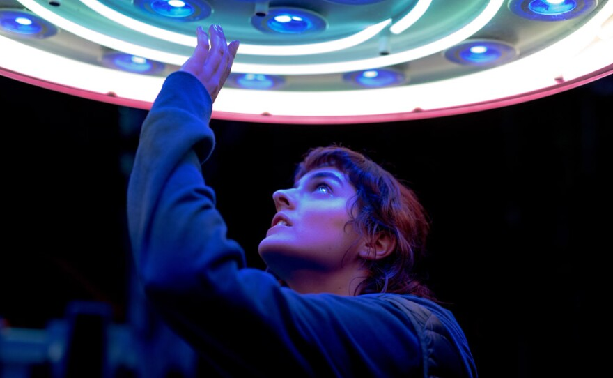 """Jeanne (Noémie Merlant) develops an affection for a new theme park ride in the French-language indie film """"Jumbo."""""""