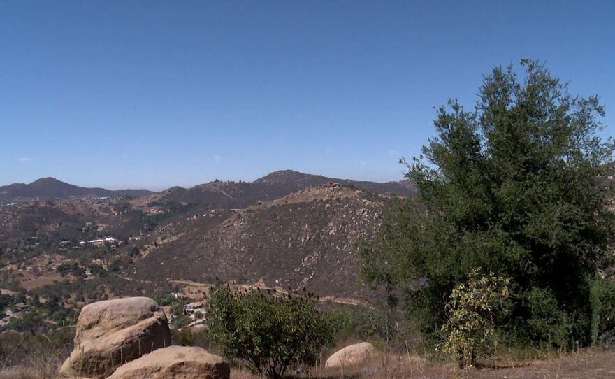 The proposed site for Newland Communities to develop a master-planned community of 2,135 homes in the Miriam Mountains in North San Diego County, Sept. 18, 2018.