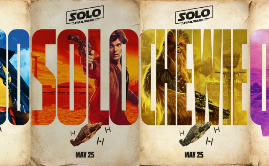 """I love the old school look of some of the promotional advertising for """"Solo: A Star Wars Story."""""""