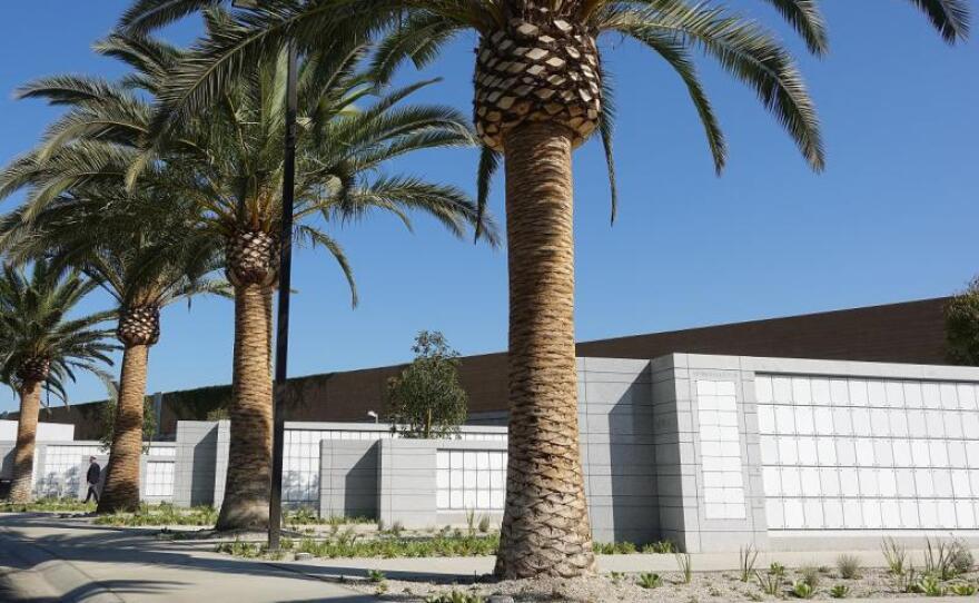 The Los Angeles columbarium is pictured in this undated photo.