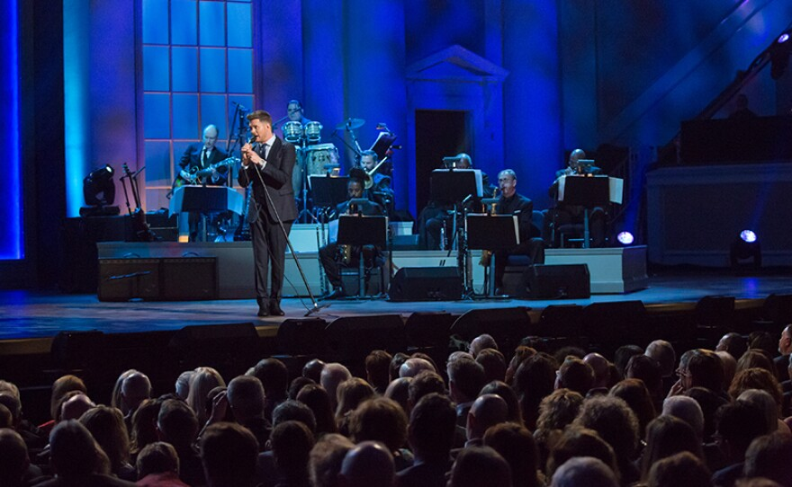 Michael Bublé in performance, Nov. 15, 2017 at the Daughters of the American Revolution (DAR) Constitution Hall in Washington, D.C.