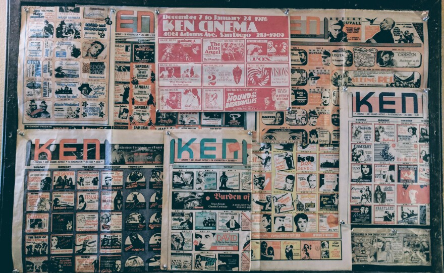 Luke Buckman recalls seeing more than 250 films at the Ken Cinema and took this photo of the iconic Ken monthly calendars that used to be printed and eagerly awaited.