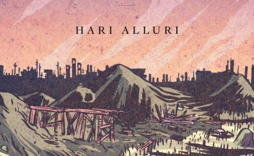 """Book cover, """"The Flayed City"""" by San Diego poet Hari Alluri."""
