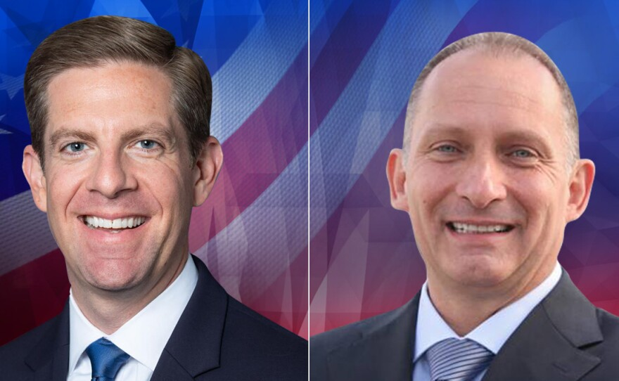 49th Congressional District candidates Mike Levin (left) and Brian Maryott (right) in undated campaign photos.