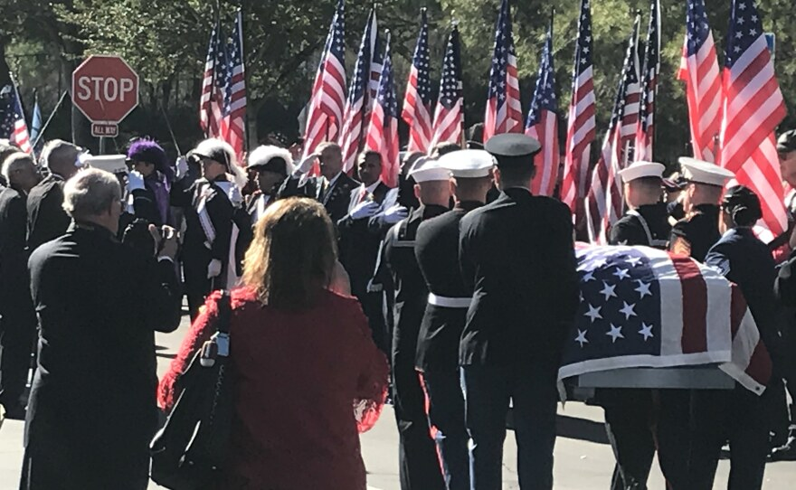 The body of Ray Chavez, the oldest Pearl Harbor survivor, was laid to rest at Miramar National Cemetery on December 12, 2018.