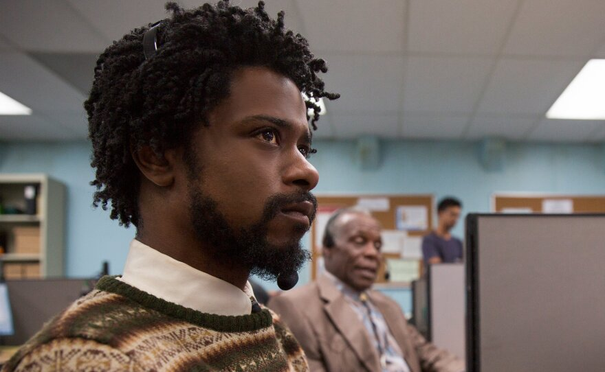 """LaKeith Stanfield stars as Cassius Green in Boots Riley's feature film writing/directing debut """"Sorry to Bother You"""" (2018)."""