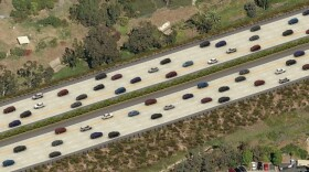 An undated artist rendering of the carpool lanes on Internet 5 from Lomas Sante Fe Drive to state Route 78.