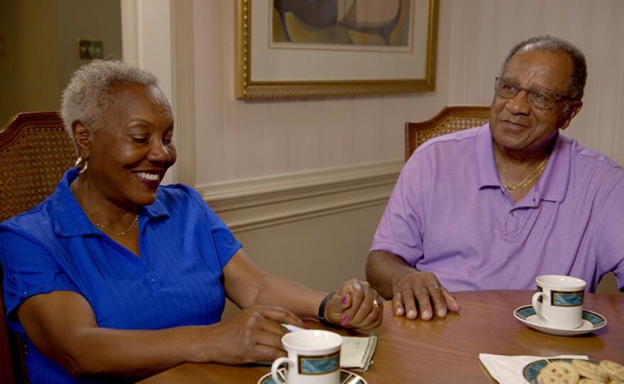 Lillian and Johny Lambert discuss their Legacy List with Matt over tea.