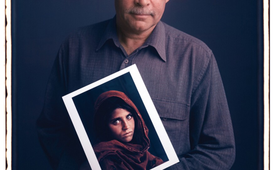 Tim Mantoani's portrait of Steve McCurry, whose portrait of an Afghan girl was on the cover of National Geographic.