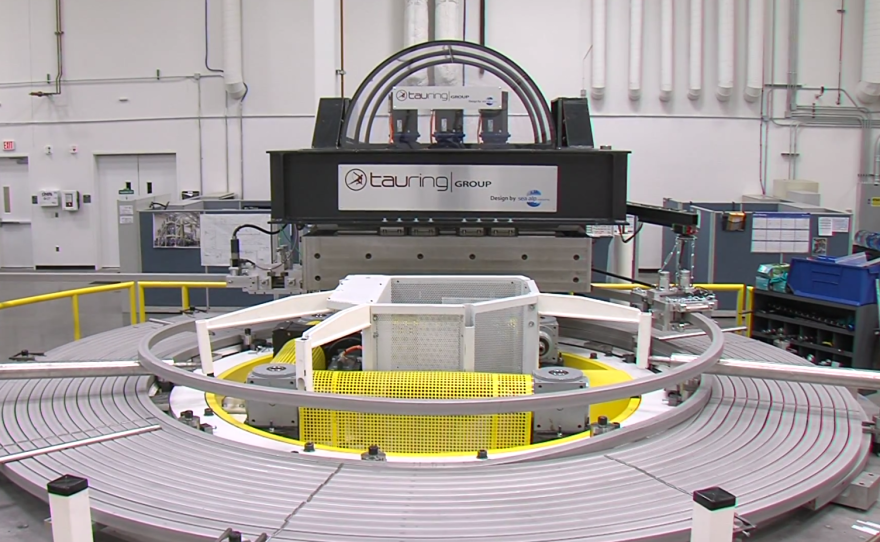 The first of 40 layers that make up a coil is pictured, March 25, 2015. The finished magnet will consist of six of coils.