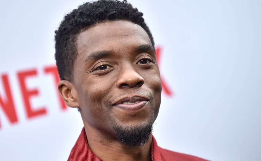 Chadwick Boseman, pictured in June 2019 in Los Angeles, portrayed historical figures with dignity and humanity. In public comments, he gave thanks to those who came before him.