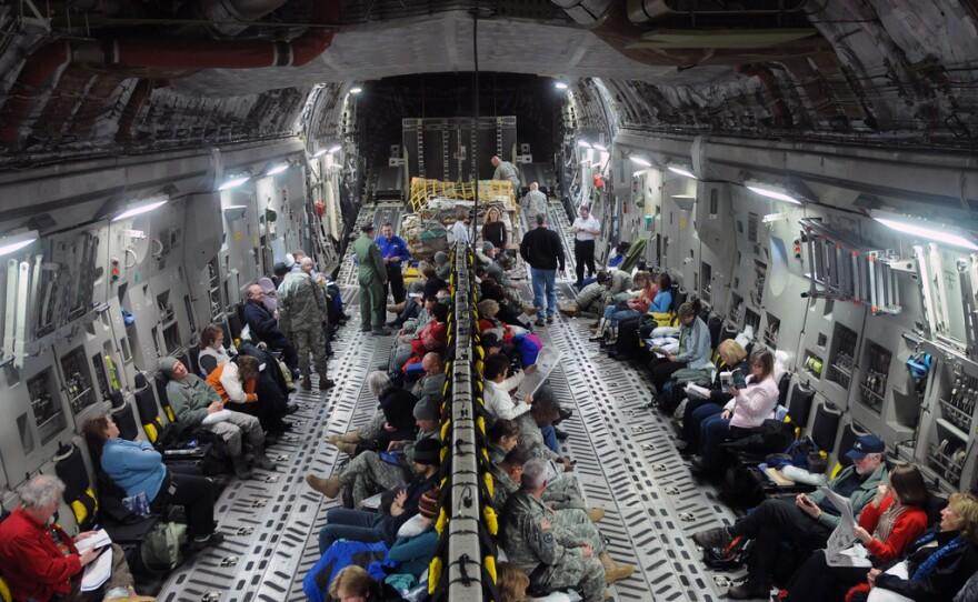 Alaska Air National Guard C-17 Globemaster military transport aircraft flight