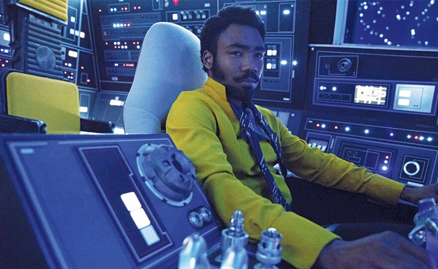"""Donald Glover as Lando Calrissian is one of the big attractions in """"Solo: A Star Wars Story."""""""