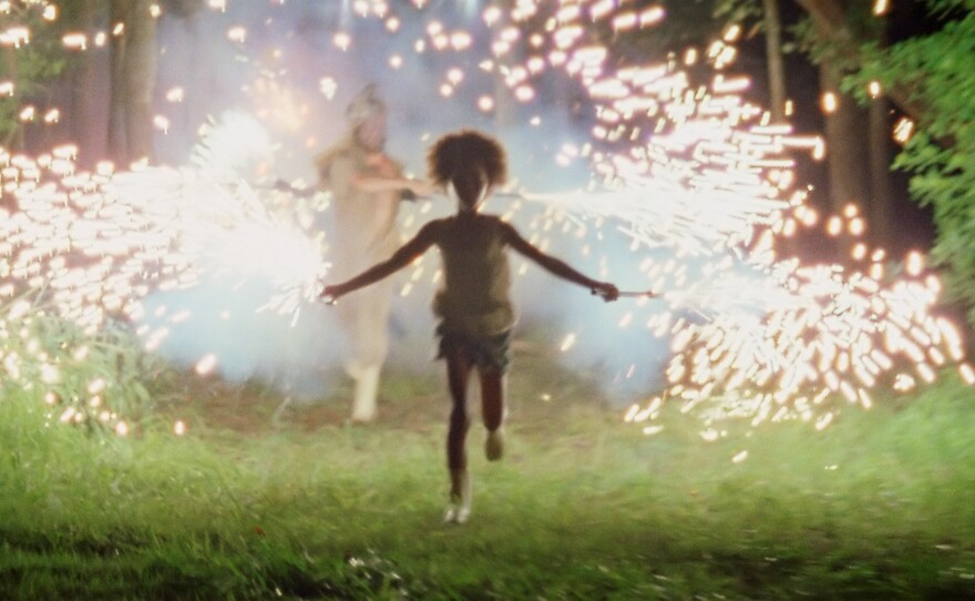 """Quvenzhané Wallis as Hushpuppy in """"Beasts of the Southern Wild."""""""
