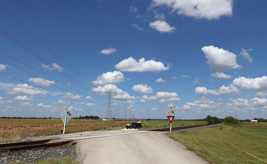 """An NTSB investigation on a deadly hot air balloon crash in July 2016 found that the pilot had a """"pattern of poor decision-making"""" and was impaired by drugs and medical conditions. Here, authorities block a road near the crash site in Maxwell, Texas."""