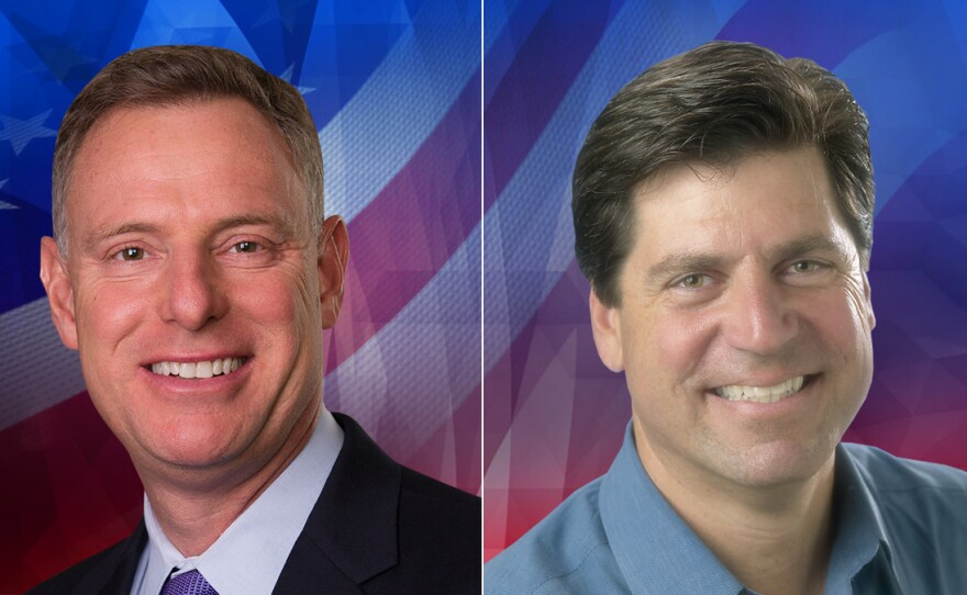 52nd Congressional District candidates Scott Peters and Jim DeBello are pictured in this undated photo.