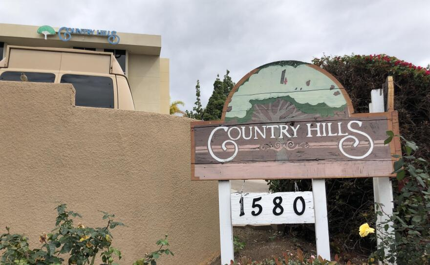 Pictured above is Country Hills Post Acute nursing home in El Cajon where there have been confirmed COVID-19 cases among staff and residents, April 20, 2020.