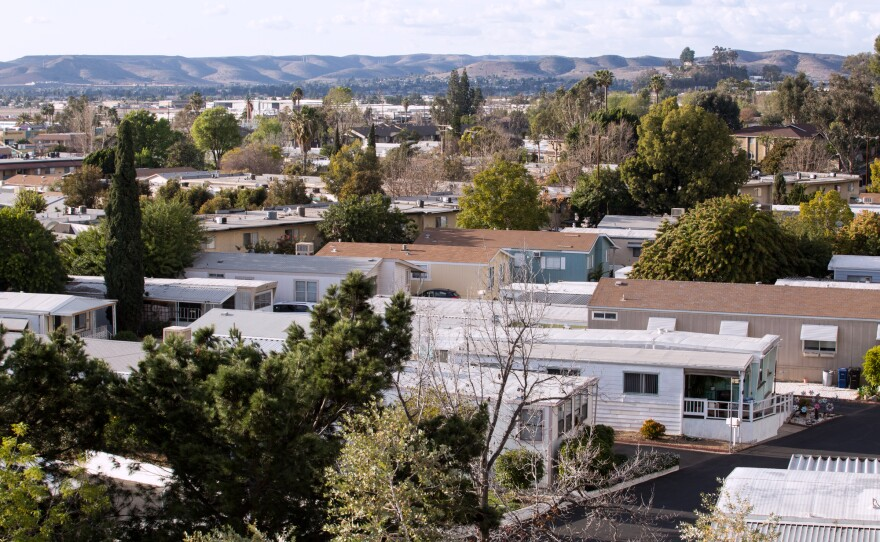 The Starlight Mobile Home Park, photographed on Feb. 21, 2018, is one of three El Cajon mobile home parks that sits above a toxic groundwater plume.