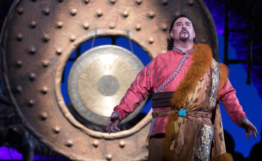 """Carl Tanner sings the role of Calaf in the San Diego Opera production of Puccini's """"Turandot."""""""