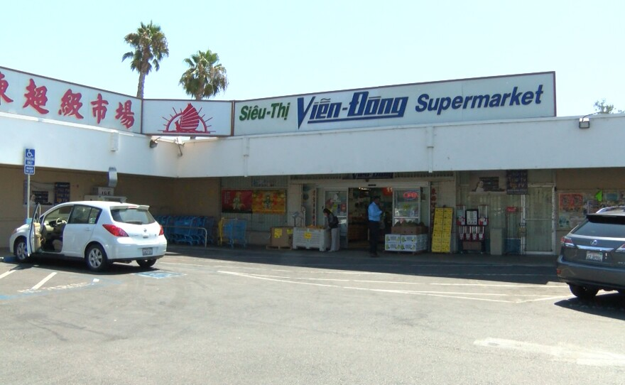 The front of the Vien-Dong Supermarket in City Heights at University Avenue and 54th Street, Aug. 30, 2016.