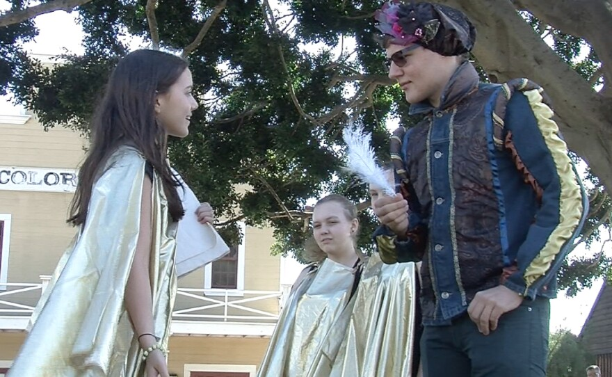 The Slavic Anglo-American School in Moscow performs at the San Diego Studenr Shakespeare Festival on April 27.
