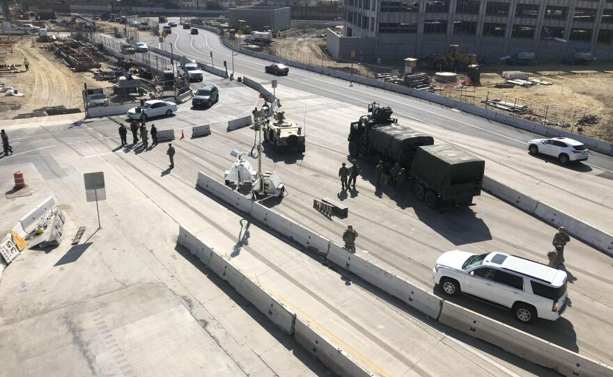 Marines from Camp Pendleton deploy to the San Ysidro Port of Entry in San Diego, Nov. 8, 2018.