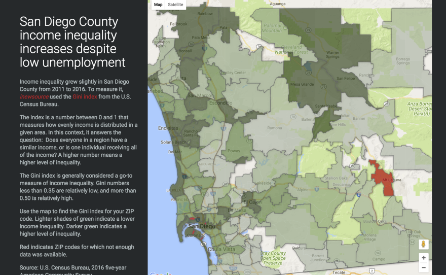 Click here to check out a map showing income inequality in San Diego County.